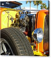 Cars - 1932 Ford Roadster Hot Rod - Engine And Tire Close Up Acrylic Print