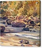 Carson River In Autumn Acrylic Print