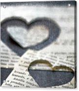 Carta Cuori Acrylic Print