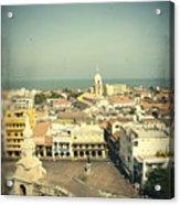 Cartagena De Indias Seen From Above Acrylic Print