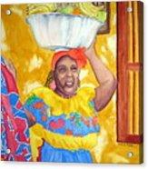 Cartagena Peddler II Acrylic Print