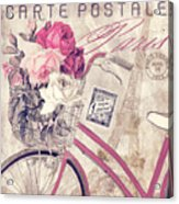 Carte Postale Bicycle Acrylic Print