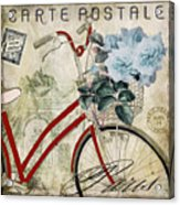 Carte Postale Vintage Bicycle Acrylic Print