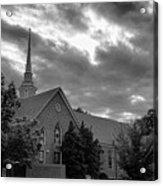 Carter Chapel Bridgewater College Va - Bw 1 Acrylic Print