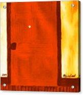 Carthage Jail Bullet Hole Door 15 Honoring Hyrum Smith Martyr Acrylic Print by Richard W Linford
