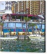 Cartoon Boats Acrylic Print