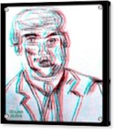 Cartoon Ink Sketch Of The Candidate Acrylic Print