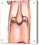 Cartoon No 84 Acrylic Print by Edward Ruth