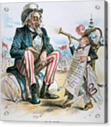 Cartoon: Uncle Sam, 1893 Acrylic Print