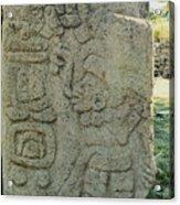Carved Danzantes Stone Acrylic Print