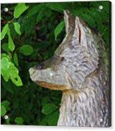Carved Dogs Head Acrylic Print