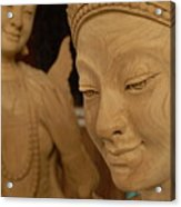 Carved Face Acrylic Print