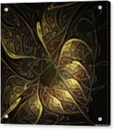 Carved In Gold Acrylic Print