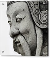 Carved Monk Statue Acrylic Print
