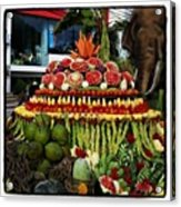 Carved Watermelon, Surin Elephant Acrylic Print