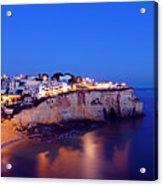 Carvoeiro In The Algarve Portugal At Night Acrylic Print