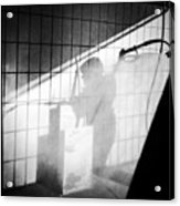 Carwash shadow and light Acrylic Print