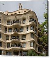 Casa Mila In Barcelona, Spain Acrylic Print