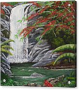 Cascada Tropical Acrylic Print