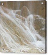 Cascade By The Limestone Pools In Huanglong Acrylic Print