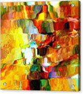 Cascade De Couleurs Acrylic Print