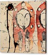Cascade Of Realization Acrylic Print by Mark M  Mellon