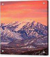 Cascade Ridge Sunrise Acrylic Print