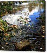 Cascade Springs With Rock Acrylic Print