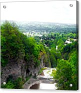 Cascadilla Gorge Cornell University Ithaca New York Panorama Acrylic Print