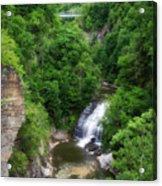 Cascadilla Waterfalls Cornell University Ithaca New York 01 Acrylic Print