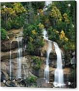 Cascading Skagway Waterfall  Acrylic Print