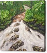 Cascading Stream Acrylic Print
