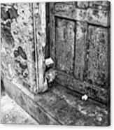 Casco Viejo Door Mono Acrylic Print