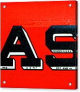 Case Tractor Nameplate Acrylic Print