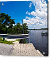 Casey Key Swing Bridge Open For Boats Acrylic Print