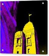 Casino Building In Yellow Acrylic Print