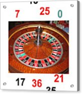 Casino Roulette Wheel Lucky Numbers Acrylic Print