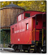 Cass Railroad Caboose Acrylic Print