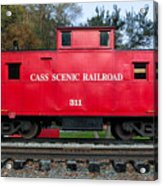 Cass Red Caboose Acrylic Print