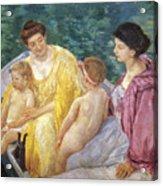 Cassatt: The Swim, 1910 Acrylic Print