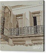 Cast Iron Balcony Rail Acrylic Print