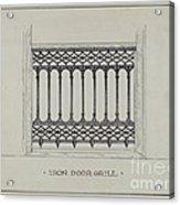Cast Iron Balcony Railing Acrylic Print