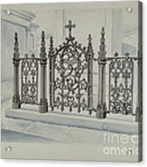 Cast Iron Gate And Fence Acrylic Print
