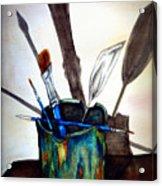 Cast Shadows Acrylic Print by Colene Milligan