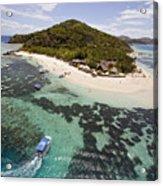 Castaway Island Aerial Acrylic Print