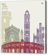 Castellon Skyline Poster Acrylic Print