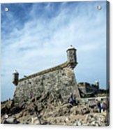 Castelo Do Queijo Old Fort Landmark In Porto Portugal Acrylic Print