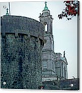 Castle And Church Athlone Ireland Acrylic Print