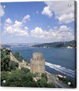 Castle At Rumelihisan Along Side Acrylic Print