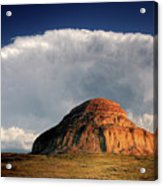 Castle Butte In Big Muddy Valley Of Saskatchewan Acrylic Print